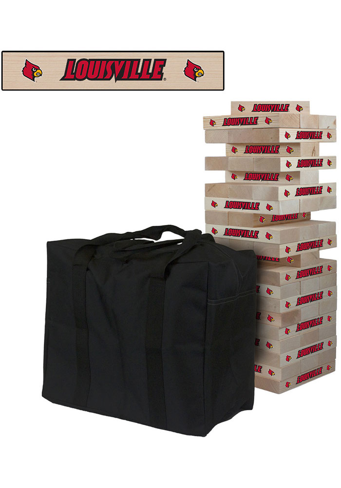Louisville Cardinals Giant Tumble Tower Tailgate Game - Image 1