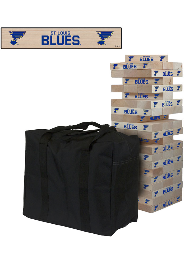 St Louis Blues Giant Tumble Tower Tailgate Game - Image 1