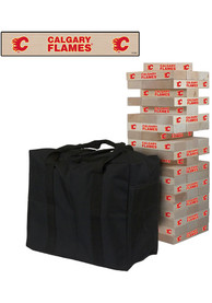Calgary Flames Giant Tumble Tower Tailgate Game