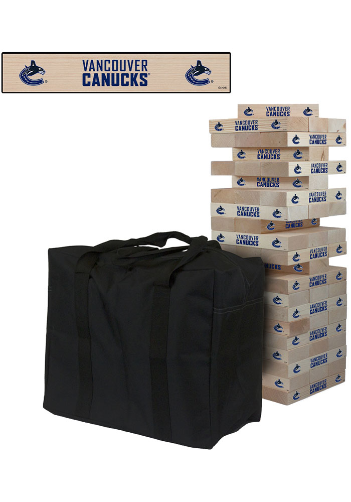 Vancouver Canucks Giant Tumble Tower Tailgate Game - Image 1