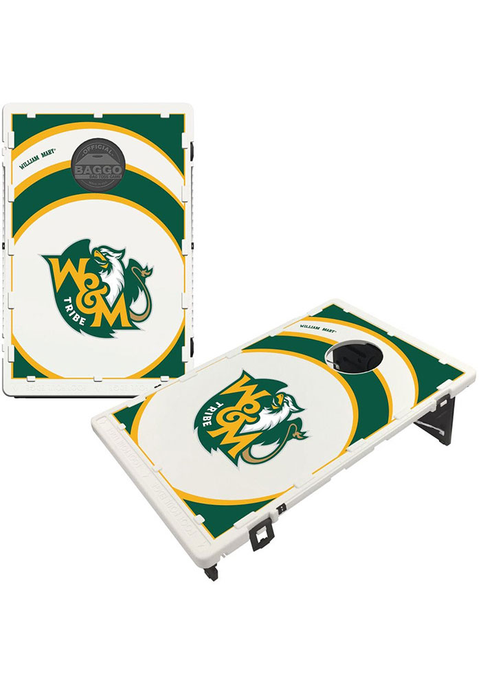 William & Mary Tribe Baggo Bean Bag Toss Tailgate Game - Image 1