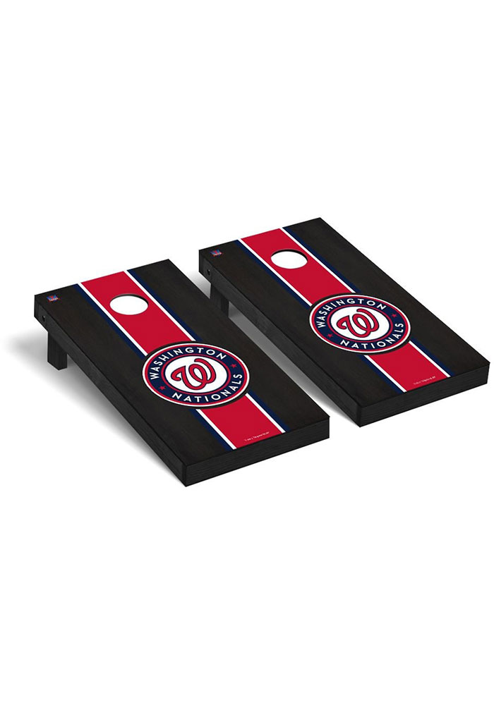 Washington Nationals Onyx Stained Regulation Cornhole Tailgate Game - Image 1