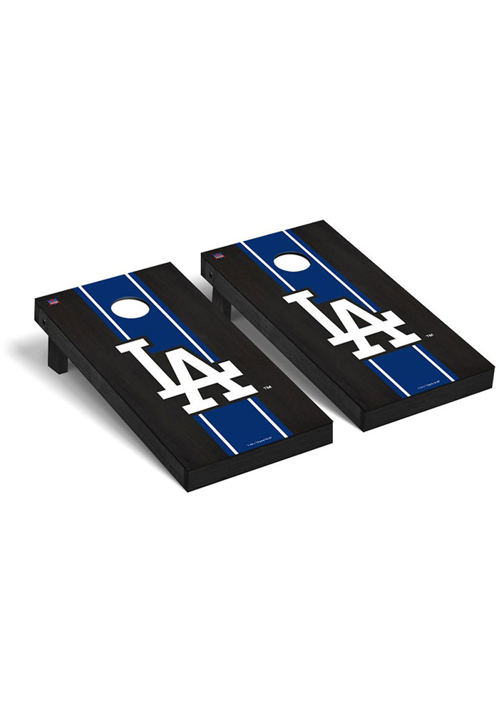 Los Angeles Dodgers Onyx Stained Regulation Cornhole Tailgate Game - Image 1