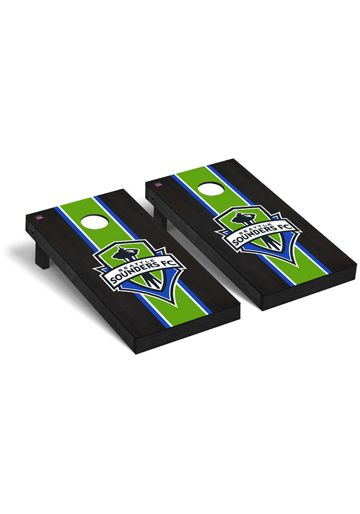 Seattle Sounders FC Onyx Stained Regulation Cornhole Tailgate Game - Image 1