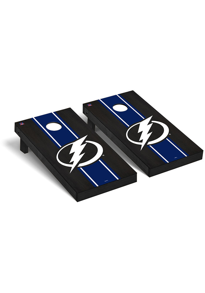 Tampa Bay Lightning Onyx Stained Regulation Cornhole Tailgate Game - Image 1