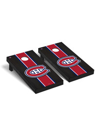 Montreal Canadiens Onyx Stained Regulation Cornhole Tailgate Game
