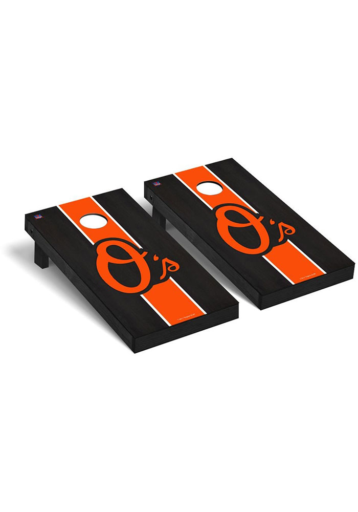 Baltimore Orioles Onyx Stained Regulation Cornhole Tailgate Game - Image 1