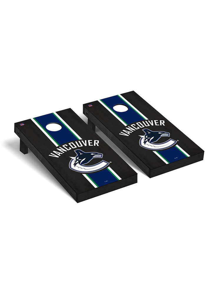 Vancouver Canucks Onyx Stained Regulation Cornhole Tailgate Game - Image 1