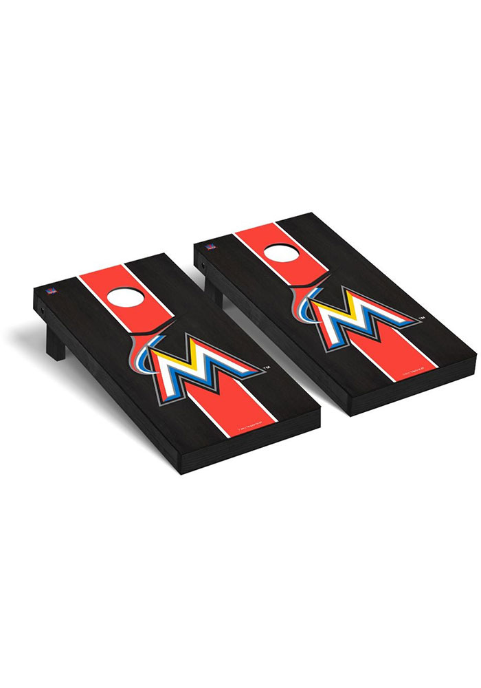 Miami Marlins Onyx Stained Regulation Cornhole Tailgate Game - Image 1
