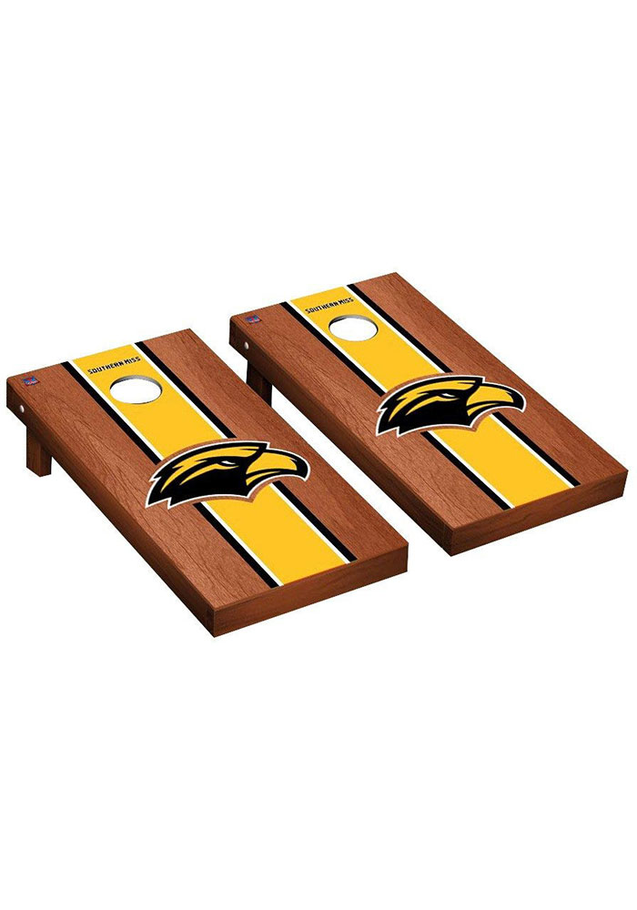Southern Mississippi Golden Eagles Rosewood Stained Regulation Cornhole Tailgate Game - Image 1