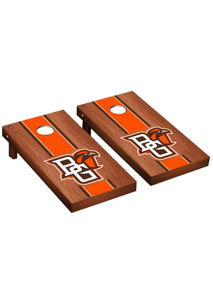 Bowling Green Falcons Rosewood Stained Regulation Cornhole Tailgate Game - Image 1
