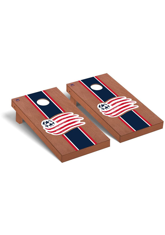 New England Revolution Rosewood Stained Regulation Cornhole Tailgate Game - Image 1