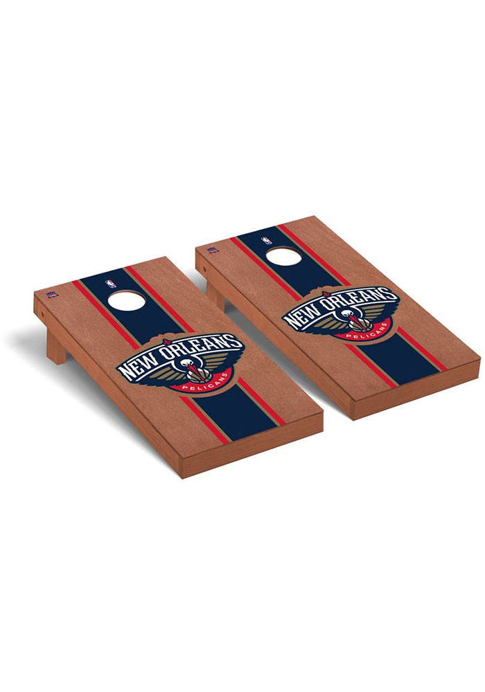 New Orleans Pelicans Rosewood Stained Regulation Cornhole Tailgate Game - Image 1