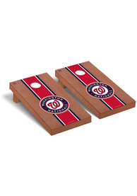 Washington Nationals Rosewood Stained Regulation Cornhole Tailgate Game