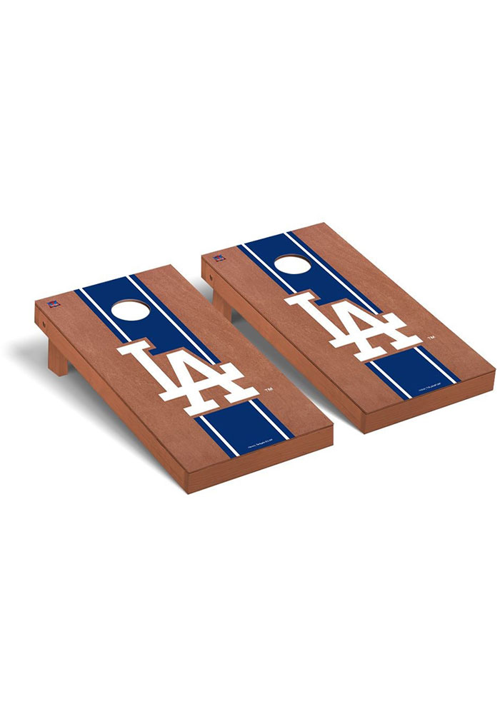 Los Angeles Dodgers Rosewood Stained Regulation Cornhole Tailgate Game - Image 1