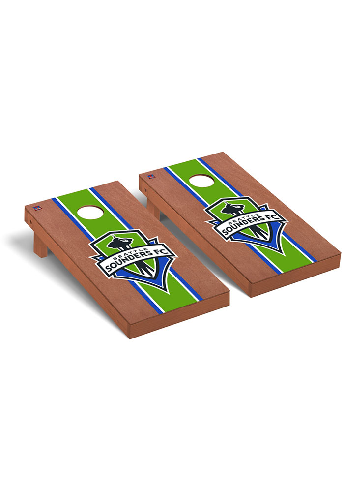 Seattle Sounders FC Rosewood Stained Regulation Cornhole Tailgate Game - Image 1