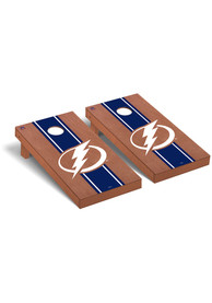 Tampa Bay Lightning Rosewood Stained Regulation Cornhole Tailgate Game