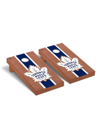 Toronto Maple Leafs Rosewood Stained Regulation Cornhole Tailgate Game