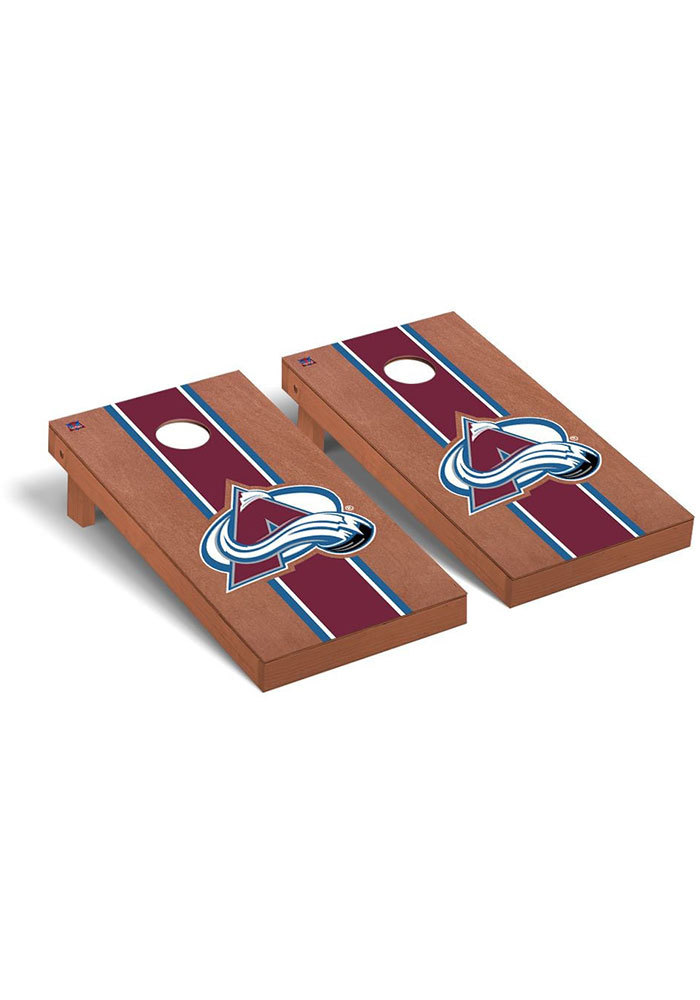Colorado Avalanche Rosewood Stained Regulation Cornhole Tailgate Game - Image 1