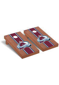 Colorado Avalanche Rosewood Stained Regulation Cornhole Tailgate Game