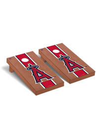 Los Angeles Angels Rosewood Stained Regulation Cornhole Tailgate Game