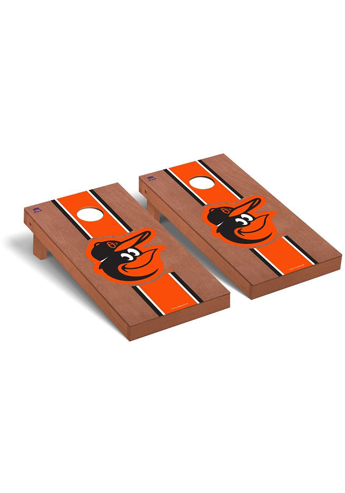 Baltimore Orioles Rosewood Stained Regulation Cornhole Tailgate Game - Image 1