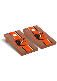 Baltimore Orioles Rosewood Stained Regulation Cornhole Tailgate Game