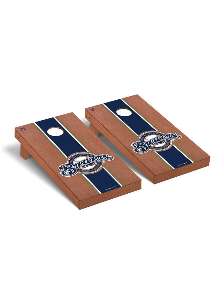 Milwaukee Brewers Rosewood Stained Regulation Cornhole Tailgate Game - Image 1