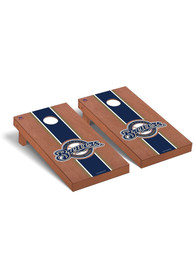 Milwaukee Brewers Rosewood Stained Regulation Cornhole Tailgate Game