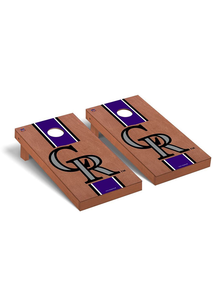 Colorado Rockies Rosewood Stained Regulation Cornhole Tailgate Game - Image 1