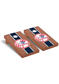 New York Yankees Rosewood Stained Regulation Cornhole Tailgate Game