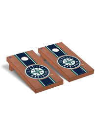 Seattle Mariners Rosewood Stained Regulation Cornhole Tailgate Game