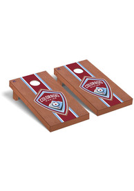 Colorado Rapids Rosewood Stained Regulation Cornhole Tailgate Game