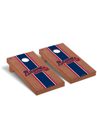 Atlanta Braves Rosewood Stained Regulation Cornhole Tailgate Game