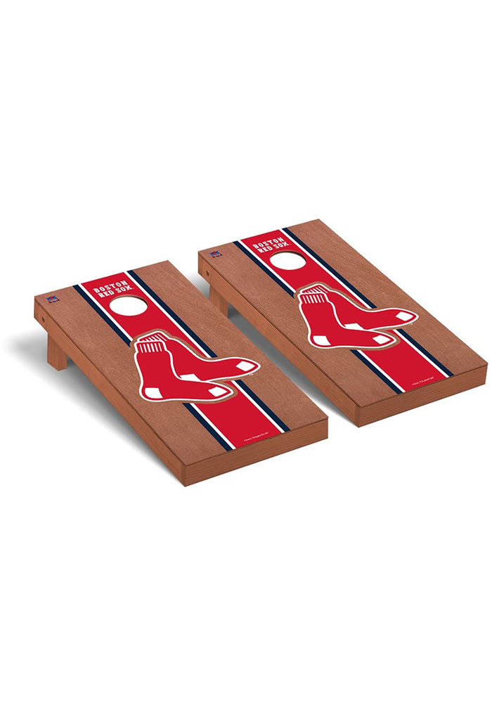 Boston Red Sox Rosewood Stained Regulation Cornhole Tailgate Game - Image 1