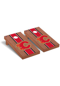 Calgary Flames Rosewood Stained Regulation Cornhole Tailgate Game