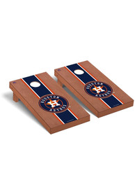 Houston Astros Rosewood Stained Regulation Cornhole Tailgate Game