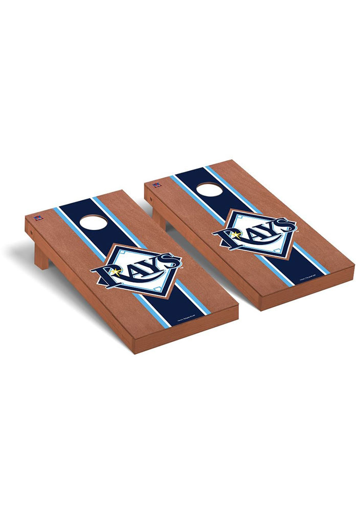 Tampa Bay Rays Rosewood Stained Regulation Cornhole Tailgate Game - Image 1