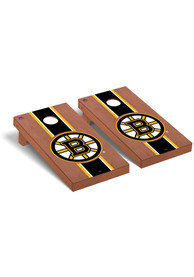 Boston Bruins Rosewood Stained Regulation Cornhole Tailgate Game