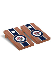 Winnipeg Jets Rosewood Stained Regulation Cornhole Tailgate Game