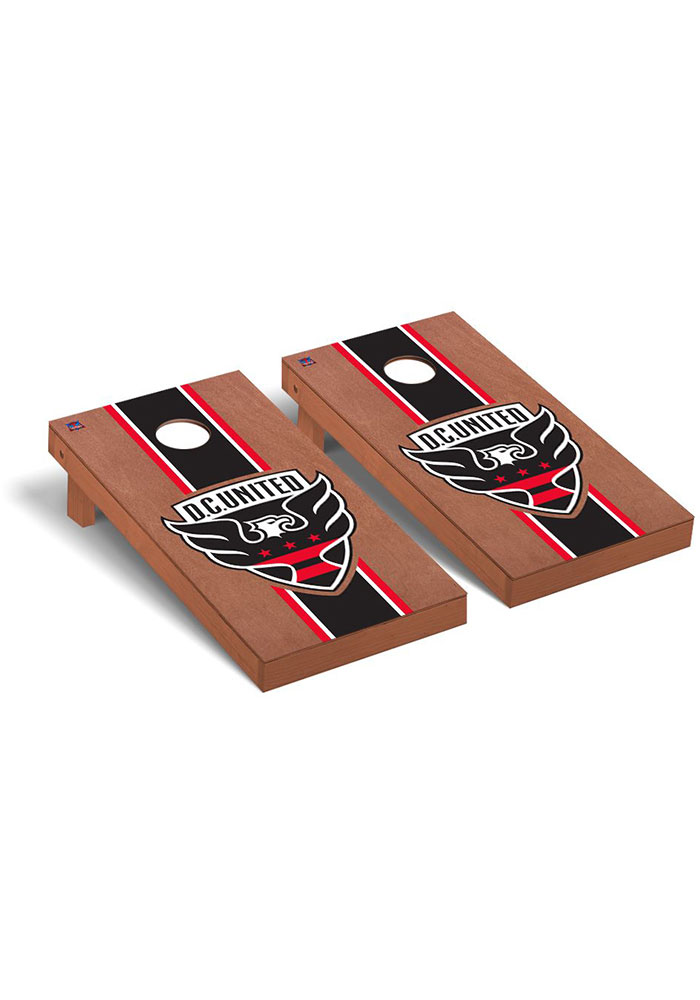 D.C. United Rosewood Stained Regulation Cornhole Tailgate Game - Image 1