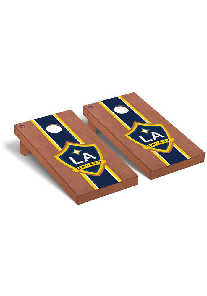 LA Galaxy Rosewood Stained Regulation Cornhole Tailgate Game - Image 1