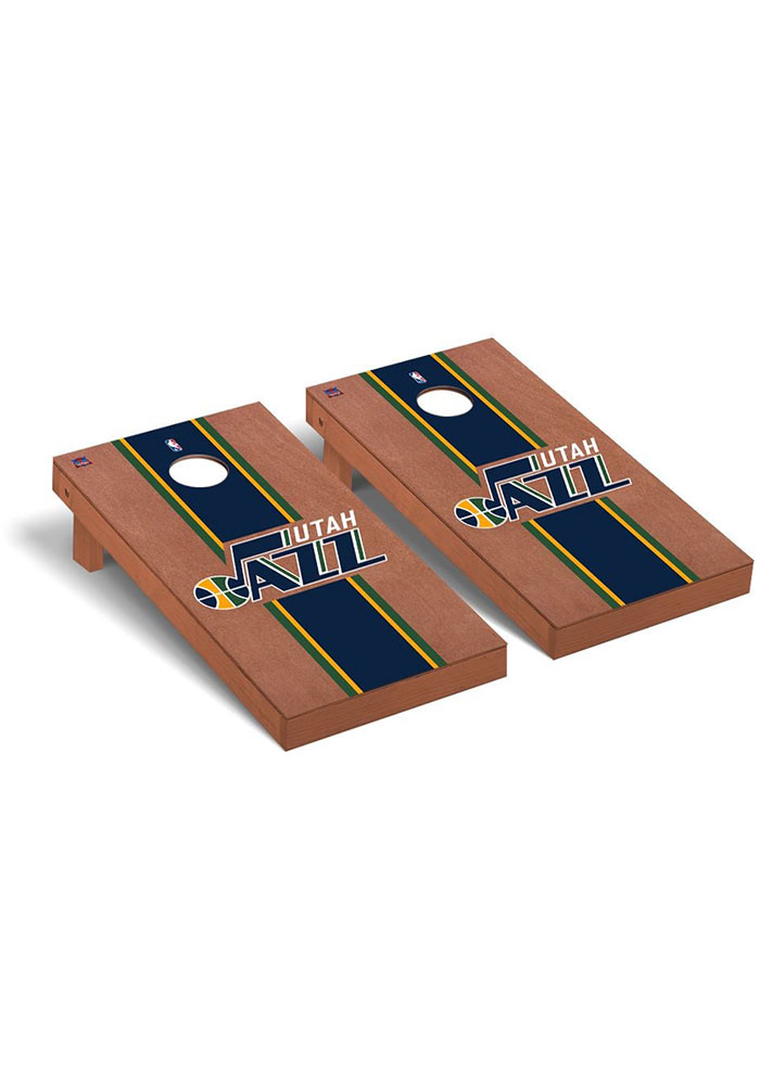 Utah Jazz Rosewood Stained Regulation Cornhole Tailgate Game - Image 1