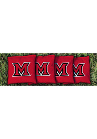 Miami RedHawks All-Weather Cornhole Bags Tailgate Game