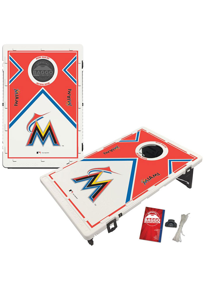 Miami Marlins Baggo Bean Bag Toss Tailgate Game - Image 1