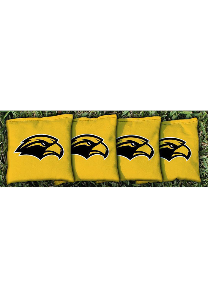 Southern Mississippi Golden Eagles Corn Filled Cornhole Bags Tailgate Game - Image 1