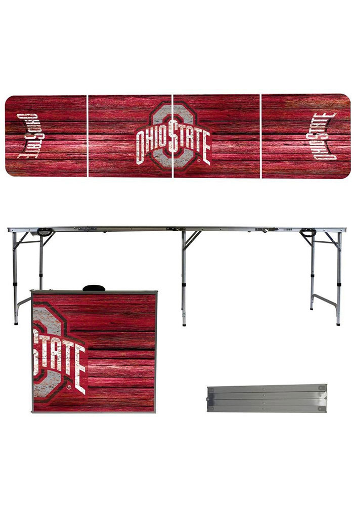 Ohio State Buckeyes 2x8 Tailgate Table - Image 1