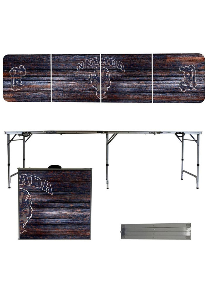 Nevada Wolf Pack 2x8 Tailgate Table - Image 1