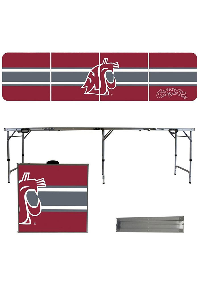 Washington State Cougars 2x8 Tailgate Table - Image 1