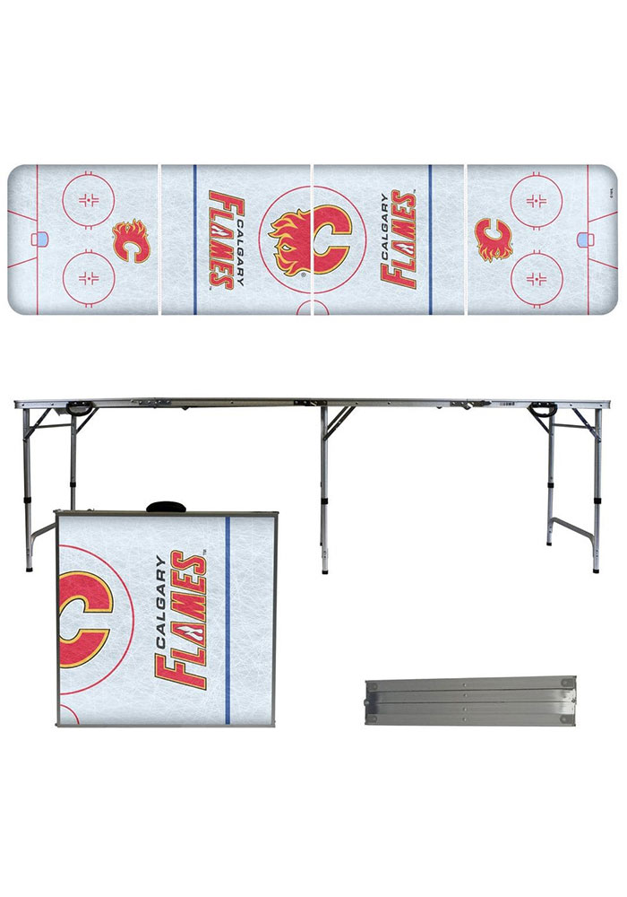 Calgary Flames 2x8 Tailgate Table - Image 1